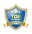 top product shield vector image vector image