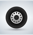 truck tire icon vector image vector image