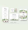 wedding menu details information escort place vector image vector image