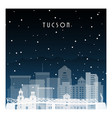 winter night in tucson night city in flat style vector image vector image