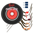 world music day disc sounds planet of global vector image