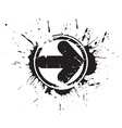 Abstract grunge arrow vector image