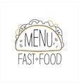 Texmex Taco Premium Quality Fast Food Street Cafe vector image