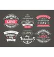 Calligraphic Design Elements Valentines Day vector image
