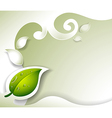 A gray stationery with a leaf vector image vector image