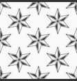 abstract seamless pattern of six-pointed stars vector image vector image