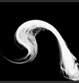 abstract white smoke isolated on black background vector image vector image