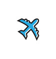 aero plane graphic template vector image
