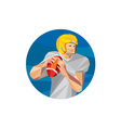 American Football Quarterback QB Low Polygon vector image vector image
