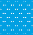 barbell pattern seamless blue vector image vector image