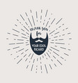 beard with hipster lettering vector image vector image