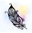 Beautiful hand drawn sketch of feathers for your vector image