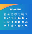 bitcoin icons for currency exchange online vector image vector image
