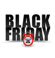 black friday black text on white background vector image vector image