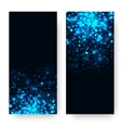 blue glowing light glitter background vector image