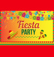 bright poster of fiesta party on yellow vector image
