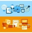 business and managementin flat style vector image vector image