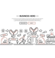 Business Hero - line design website banner temlate vector image vector image