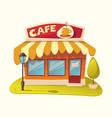 cafe facade a cafe vector image