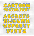 cartoon font vector image