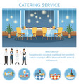 catering service for banquet web page template vector image vector image