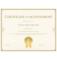Certificate template layout vector image vector image