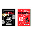 christmas sale collection on vector image