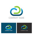 cloud technology logo vector image vector image