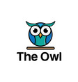 colorful owl template vector image vector image