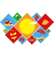 colorful set of summer icons happy holidays vector image vector image
