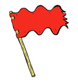 comic cartoon white flag vector image