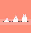 cute big fat white Easter rabbit vector image vector image