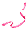 decorative pink ribbon vector image