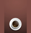 Design coffee banners a top view of a cup of vector image vector image