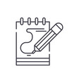 diary notes line icon concept diary notes vector image vector image