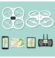 drone footage emblems vector image vector image