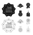 emblem and badge logo vector image vector image
