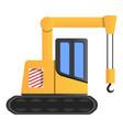 excavator crane icon cartoon style vector image