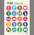 Family and vacation human figures icons set