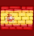 flag of spain painted on the wall vector image vector image