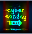 glitch cyber monday sale color text vector image vector image