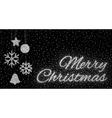 Glitter silver inscription Merry Christmas vector image