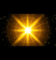 glowing light effect background with sparkles vector image vector image