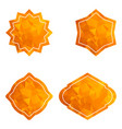 golden star tag set vector image vector image