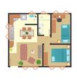 ground floor popular house vector image vector image
