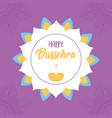 happy dussehra festival india floral mandala vector image vector image