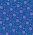 happy hanukah pattern vector image