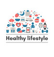 healthy lifestyle background healthy lifestyle vector image vector image