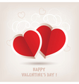 hearts for valentines day vector image vector image