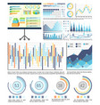 infographics and schemes whiteboard presentation vector image vector image